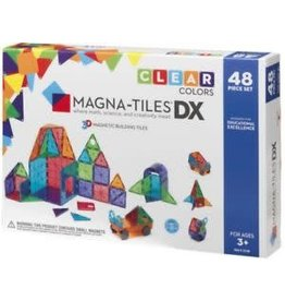 Veltech/Magnatiles Magna-Tiles DX Clear Colors 48 Piece Set