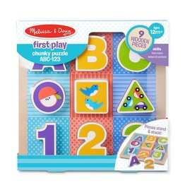 Melissa & Doug First Play Chunky Puzzle - ABC-123