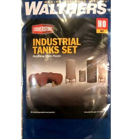 Walthers Hobby Building Walthers Cornerstone HO Scale - Industrial Tanks Detail