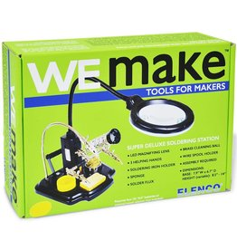 Elenco We Make Tools for Makers-Soldering Station w/Magnifying Glass