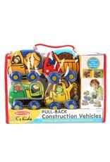 Melissa & Doug Pull-Back Plush Construction Vehicles