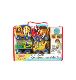 Melissa & Doug Pull-Back Plush Construction Vehicles