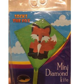 Premier Kites Socks the Fox Mini Diamond Kite