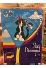Premier Kites Mini Diamond Kite - Tux the Kitten