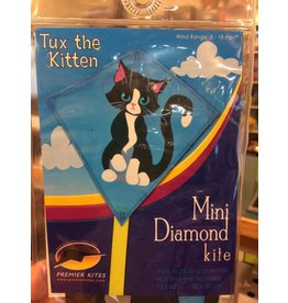 Premier Kites Mini Diamond Kite - Tux the Kitten
