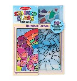 Melissa & Doug Craft Kit Stained Glass Made Easy - Rainbow Garden