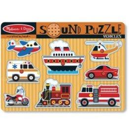 Melissa & Doug Puzzle - Vehicles Sound Puzzle