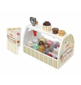 Melissa & Doug Play Food - Scoop & Serve Ice Cream Counter