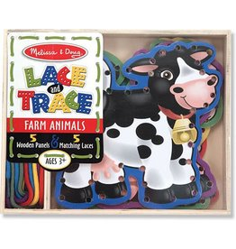 Melissa & Doug Wooden Farm Animals Lace and Trace Panels