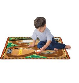 Melissa & Doug Rug - Round the Site Construction Truck