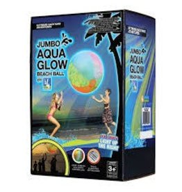 b4 Adventure Jumbo Aqua LED Glow Beach Ball 44""