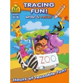 School Zone Workbook - Write & Reuse - Tracing Fun!