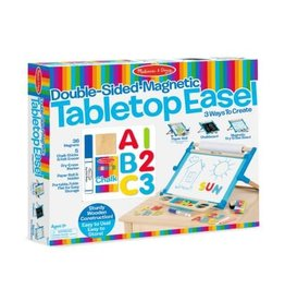 Melissa & Doug Art Supplies - Double-Sided Magnetic Tabletop Easel