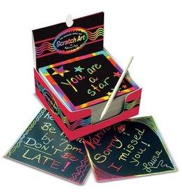 Melissa & Doug Rainbow Mini Scratch Art Notes