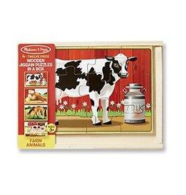 Melissa & Doug Puzzle in a Box - Farm Animals