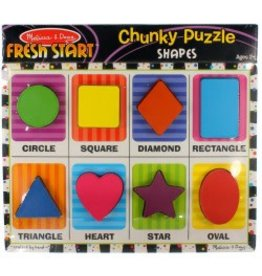 Melissa & Doug Chunky Puzzle - Shapes
