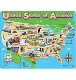 Melissa & Doug Puzzle - USA Map Jigsaw Puzzle
