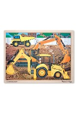 Melissa & Doug Puzzle - Wooden Diggers at Work - 24 Piece