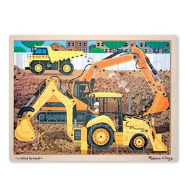 Melissa & Doug 24 Piece Wooden Jigsaw Puzzle - Diggers at Work