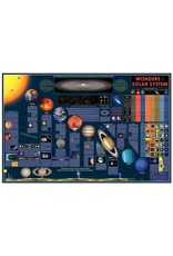 Round world Wall Chart - Wonders of our Solar System