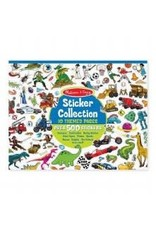 Melissa & Doug Sticker Collection Pad - Dinos, Vehicles, Space, & More! (Blue)