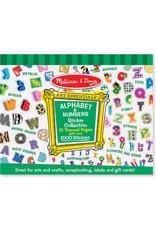 Melissa & Doug Sticker Collection Pad - Alphabet & Numbers