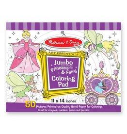 Melissa & Doug Coloring Jumbo Pad - Princess & Fairy