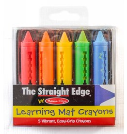 Melissa & Doug Learning Mat Crayons (5 colors)