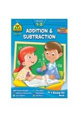 School Zone Workbook - Addition & Subtraction - Grade 1-2