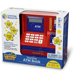 Learning Resources Pretend and Play Teaching ATM Bank - Red