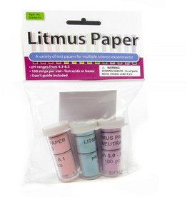 American Educational Products Litmus Paper Set of 3 (100 strips per vial)