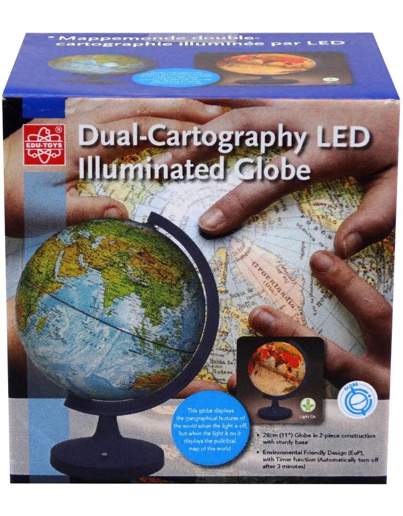 """Elenco 11"""" Dual Cartography Illuminated Globe"""