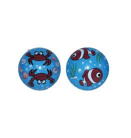 Mega Fun Inflate-A-Ball Blue w/Crabs