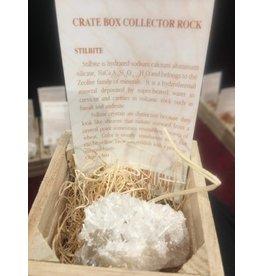 Squire Boone Village Crate Box Collector Rock - Stilbite