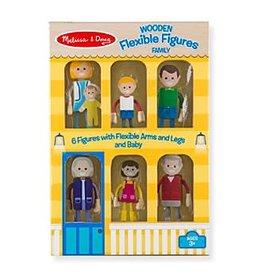 Melissa & Doug Wooden Flexible Figures - Family