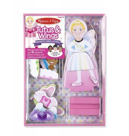 Melissa & Doug Magnetic Dress-Up Doll Tutus & Wings