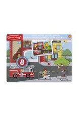 Melissa & Doug Around the Fire Station Sound Puzzle