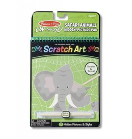 Melissa & Doug On the Go - Safari Animals - Scratch Art - Picture Reveal Pad