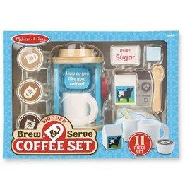 Melissa & Doug Wooden Brew & Serve Coffee Set