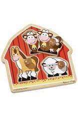 Melissa & Doug Jumbo Knob Puzzle - Barnyard Animals