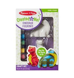 Melissa & Doug Craft Kit Created By Me Dinosaur Figurines