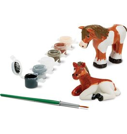 Melissa & Doug Craft Kit Paint Your Own Horses Figurines