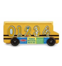 Melissa & Doug Wooden Number Matching Math Bus