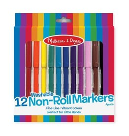 Melissa & Doug Art Supplies -Washable 12 Non-Roll Markers