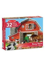 Melissa & Doug Busy Barn Shaped Floor Puzzle (32 pieces)