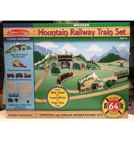 Melissa & Doug Wooden Mountain Railway Train Set