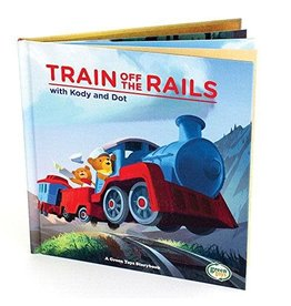 Green Toys Book Train off the Rails