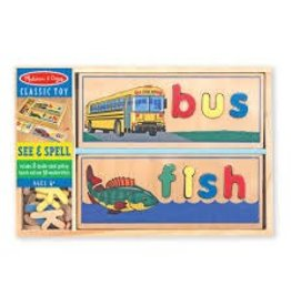 Melissa & Doug Wooden See & Spell Classic Toy