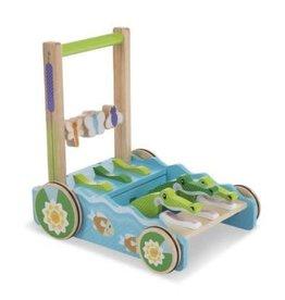 Melissa & Doug Baby First Play Chomp & Clack Alligator Push Toy