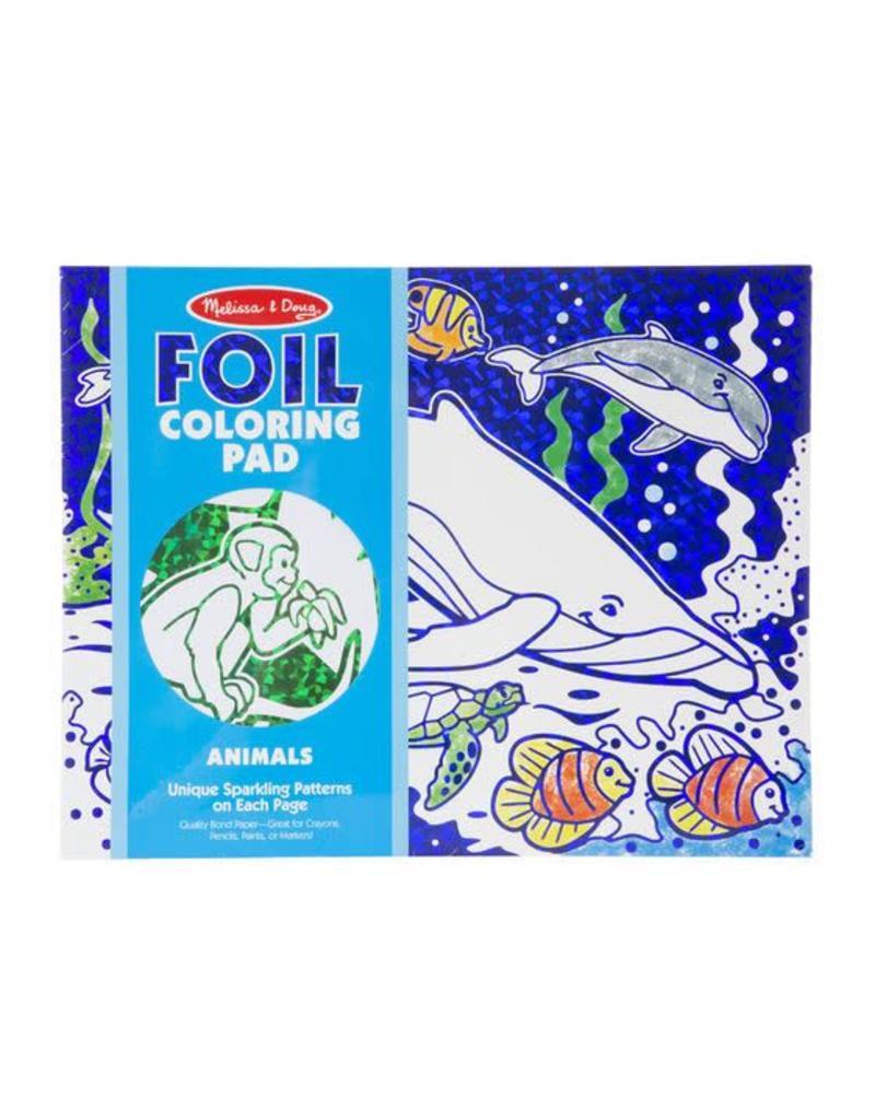 Melissa & Doug Foil Coloring Pad - Animals